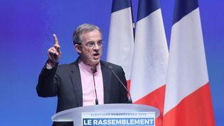 Thierry Mariani s'exprime lors d'unmeeting du Rassemblement national à Paris, le 13 janvier 2019. (JACQUES DEMARTHON / AFP)