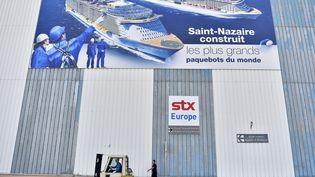 L'Italien Fincantieri a obtenu, mercredi 27 septembre 2017, la majorité du capital des chantiers navals STX basés à Saint-Nazaire (Loire-Atlantique). (LOIC VENANCE / AFP)