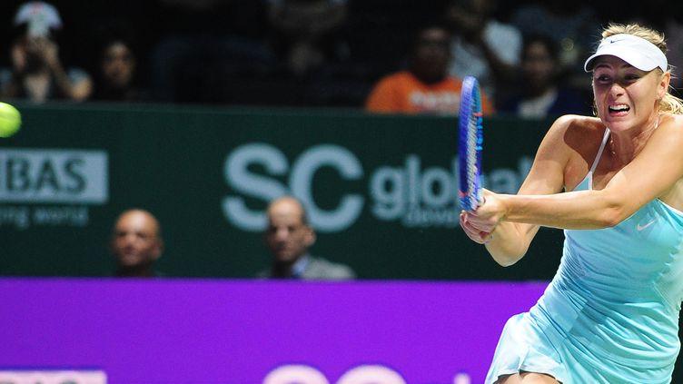 Maria Sharapova a bataillé ferme à Singapour (MOHD FYROL / AFP)