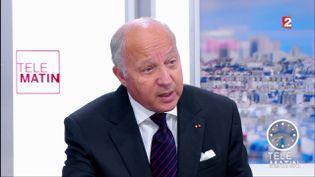 """Laurent Fabius, président du Conseil constitutionnel, dans les """"4 Vérités"""", sur France 2, le 2 juin 2017. (FRANCE 2)"""