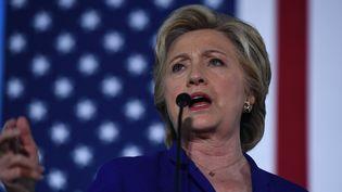 La candidate démocrate, Hillary Clinton, lors d'un meeting de campagne à Las Vegas, Nevada, mercredi 2 novembre 2016. (JEWEL SAMAD / AFP)