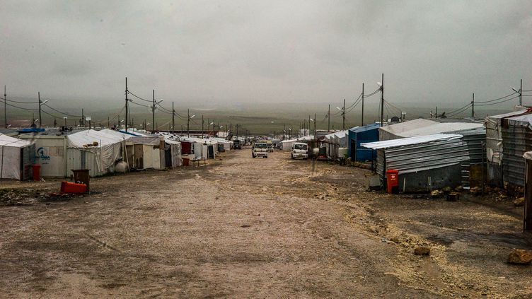 Camp de réfugiés de Kaya, au Kurdistan irakien, le 28 février 2019. (MATTHIEU MONDOLONI / FRANCE-INFO / RADIO FRANCE)