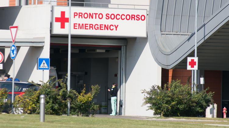L'hôpital Schiavonia, à Padoue, en Italie, le 22 février 2020. L'hôpital a été fermé en quarantaine en raison de la présence de patients atteints de coronavirus. (MASSIMO BERTOLINI / NURPHOTO / AFP)