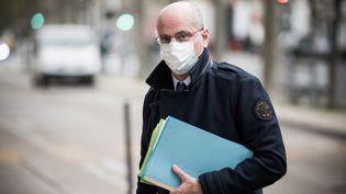 Le ministre de l'Education Jean-Michel Blanquer, à Paris, le 20 octobre 2020. (ARTHUR NICHOLAS ORCHARD / HANS LUCAS / AFP)
