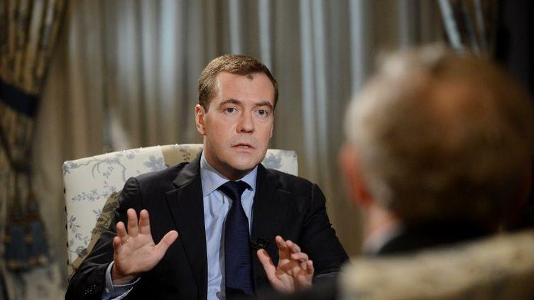 Le Premier ministre russe,Dmitri Medvedev, le 23 novembre 2012 en Russie. (NATALIA KOLESNIKOVA / AFP)