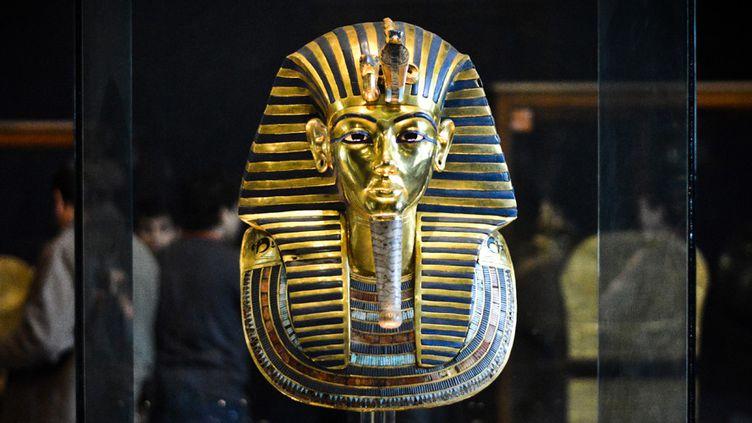 Le masque funéraire de Toutankhamon, au musée du Caire (23 janvier 2015)  (Mohamed El-Shahed / AFP)