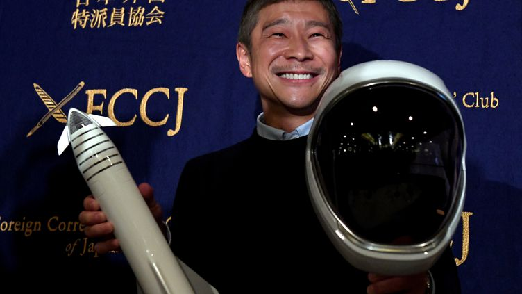 Yusaku Maezawa, milliardaire, premier astronaute privé, veut acheter le bonheur.  (TOSHIFUMI KITAMURA / AFP)
