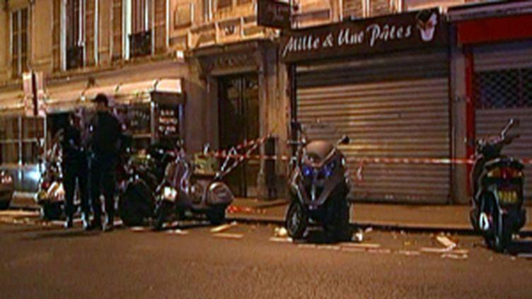 Rue Fontaine à Paris (9e), le site de la fusillade survenue dans la nuit du 27 au 28 novembre 2009 (France 2)