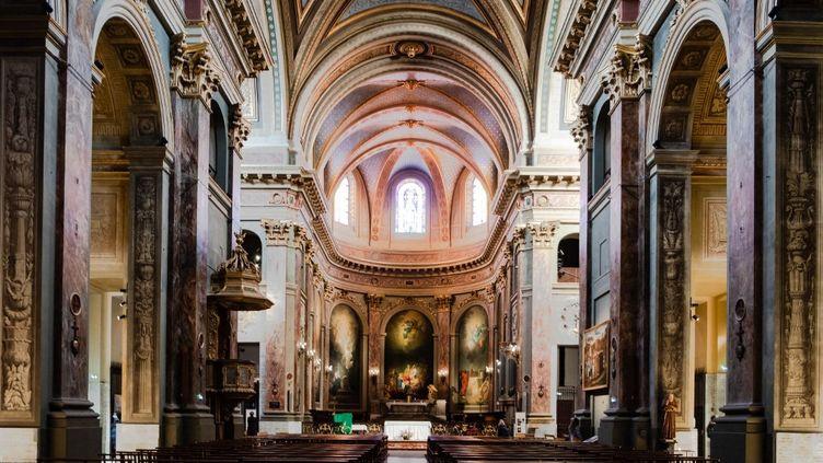 L'autel de la Basilique Notre-Dame La Daurade, à Toulouse (Haute-Garonne), le 3 février 2021. (LILIAN CAZABET / HANS LUCAS / AFP)