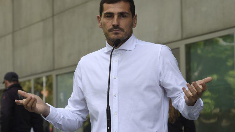 Iker Casillas, l'ancien gardien du Real Madrid (MIGUEL RIOPA / AFP)