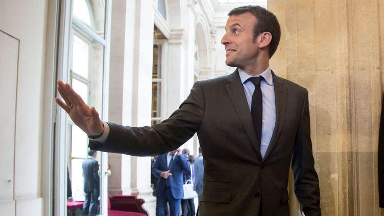 """(Emmanuel Macron a créé son propre mouvement """"En Marche!"""" © MaxPPP)"""