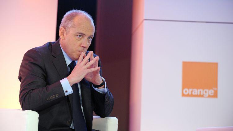 Le PDG d'Orange, Stéphane Richard, le 20 février 2013, à Paris. (ERIC PIERMONT / AFP)