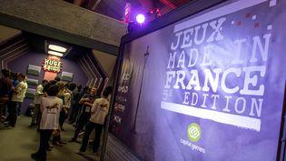 Un stand consacré aux jeux vidéo développés en France lors de la Paris Games Week, le 31 octobre 2017 à Paris. (MAXPPP)