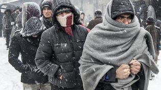 Des réfugiés afghans et pakistanais dans un camp de réfugiés à Belgrade (serbie), le 11 janvier 2017  (LARS PEHRSON/SVD / TT NEWS AGENCY / AFP)