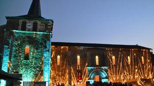 Festival des Nuits Romanes à l'église Saint-Nicolas de Moncontour (Côtesd'Armor).  (MAXPPP)