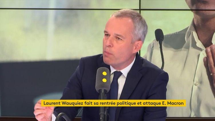 François de Rugy, président de l'Assemblée nationale, invité franceinfo lundi 27 août 2018. (RADIO FRANCE / FRANCE INFO)