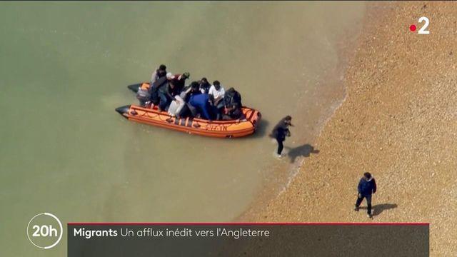 de nombreux migrants traversent la Manche pour rejoindre le pays