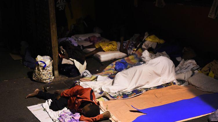 L'Italie tente d'accueillir le flot sans fin de bateaux de migrants. Des centaines de migrants ont trouvé refuge dans le centre d'accueil d'urgence humanitaire de Baobab non loin de Tiburtina. (DANILO BALDUCCI/SINTESI/SIPA)