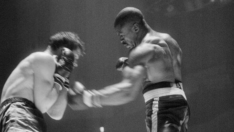 """Rubin """"Hurricane"""" Carter face à Fabio Bettini en 1965"""