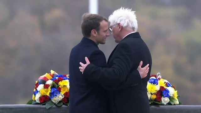 Macron et Steinmeier à l'historial du Hartmannswillerkopf