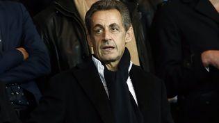 L'ancien président de la République Nicolas Sarkozy au Parc des Princes le 4 octobre 2015. (IAN LANGSDON / EPA)