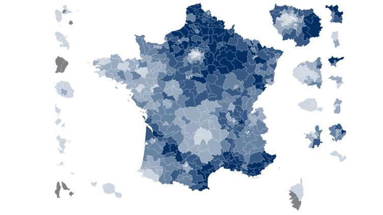 CARTE. Législatives : la France du vote Front national au premier tour (NICOLAS ENAULT / CARTO)