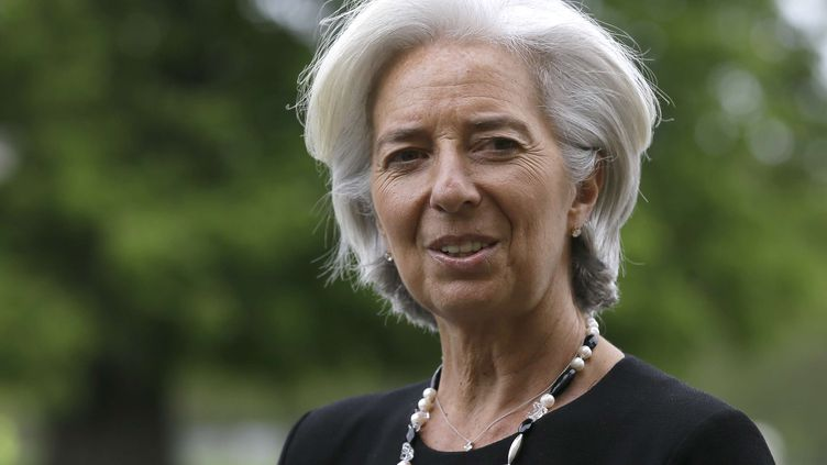 Christine Lagarde àAylesbury au Royaume-Uni le 10 mai 2013. (ALASTAIR GRANT / AP / SIPA)
