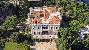 Vue aérienne du Palais et Musée Sursock de Beyrouth, sérieusement endommagé lors de la double explosion du 4 août. Photo prise le 7 août 2020. (HAYTHAM AL ACHKAR / GETTY IMAGES EUROPE)