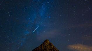 Une météorite observée dans le ciel de Cantabrie (Espagne), le 20 janvier 2016. (JUAN-CARLOS MUNOZ / BIOSPHOTO / AFP)