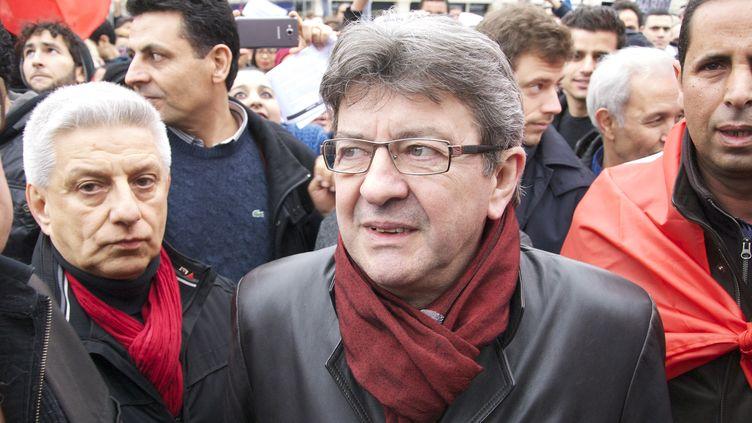 Jean-Luc Mélenchon, fondateur du Parti de Gauche, le 21 mars 2015 à Tunis (Tunisie). (CITIZENSIDE.COM / AFP)