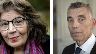Jila Mossaed et Eric Runesson, les nouveaux membres de l'Académie de littérature  (AFP )