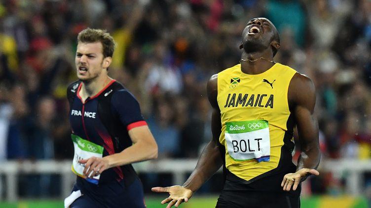 Usain Bolt la légende, Christophe Lemaitre s'arrache (JEWEL SAMAD / AFP)