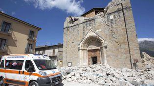 Une des églises d'Amatrice dévastée par le séisme du 24 août (RICCARDO DE LUCA / MAXPPP)