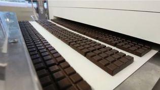 L'Allemagne est le pays au monde où les habitants mangent le plus de chocolat. Des usines géantes en fabriquent de toutes sortes. (CAPTURE ECRAN FRANCE 2)