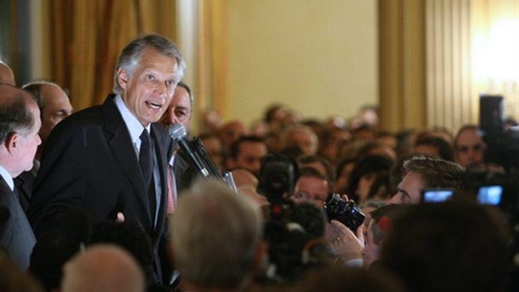 Dominique de Villepin à la Maison de l'Amérique latine à Paris le 27 octobre 2009 (© AFP Thomas Coex)
