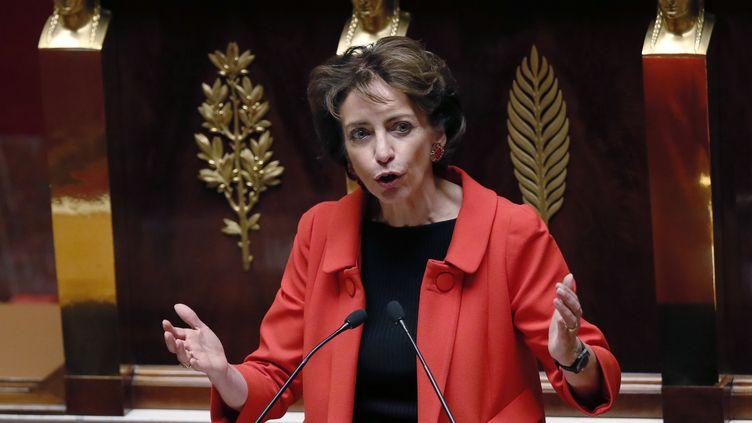 La ministre des Affaires sociales, Marisol Touraine, le 22 octobre 2013, à l'Assemblée nationale, à Paris. (PATRICK KOVARIK / AFP)