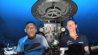 Le président des Seychelles s'exprime depuis un sous-marin (FRANCEINFO)