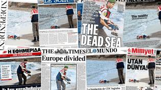 Plusieurs unes de journaux du monde entier, en date du 3 septembre 2015. (FRANCETV INFO )