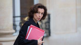 La ministre de la Culture et de la Communication Audrey Azoulay quitte le palais de l'Elysée après le conseil des ministres, le 9 novembre 2016. (CITIZENSIDE/YANN BOHAC / AFP)