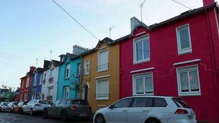 Des façades colorées à Brest. (CAPTURE ECRAN FRANCE 2)