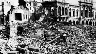 Le Havre en ruines en septembre 1944 après les bombardements de la Seconde Guerre mondiale. (AFP)