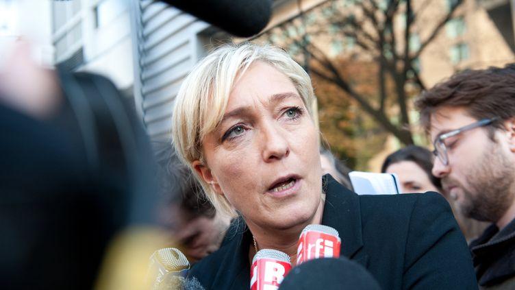 Marine Le Pen lors d'un déplacement à Washington, le 2 novembre 2011. (NICHOLAS KAMM / AFP PHOTO)