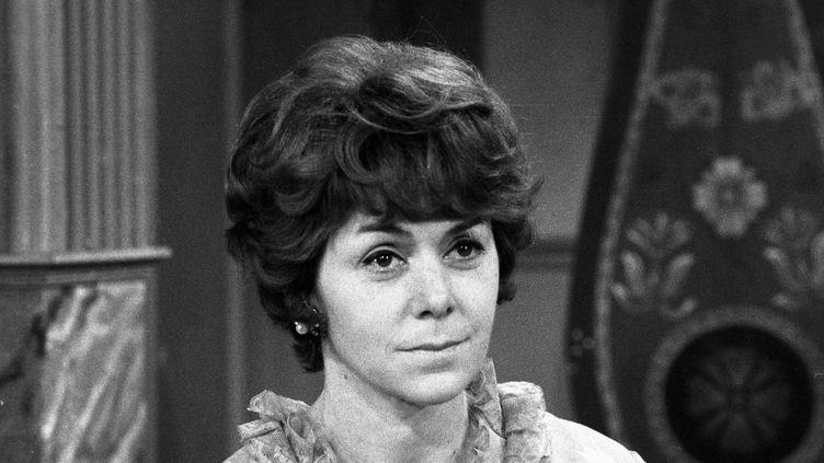 """La comédienne française Annick Alane (1925-2019) dans""""Je veux voir Mioussov"""", pièce de Valentin Kataïev, en 1968. (LOUIS JOYEUX / INA)"""