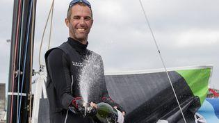 Armel Le Cléac'h satisfait de sa victoire sur la 2e étape de la Solitaire du Figaro