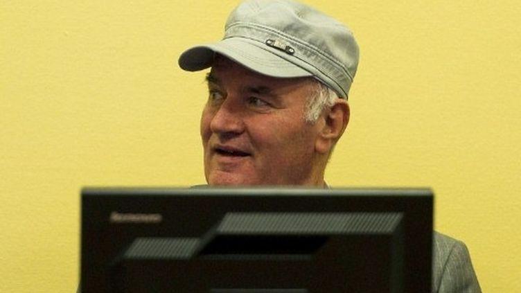 Ratko Mladic devant le Tribunal pénal international de La Haye (4 juillet 2011) (AFP / Valérie Kuypers)