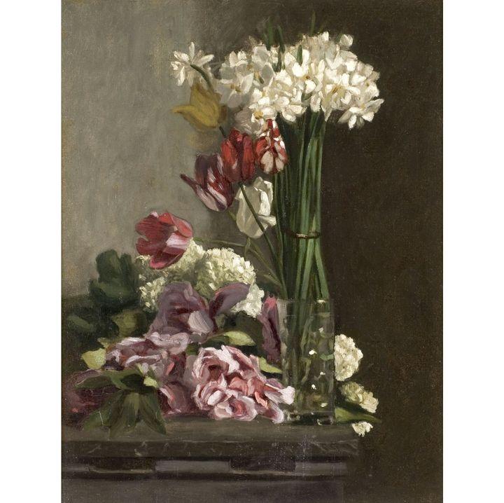 """Frédéric Bazille, """"Fleurs"""", vers 1869-1870, Musée Fabre, Montpellier Méditerranée Métropole, don Marc Bazille, 1918  (Cliché Frédéric Jaulmes)"""