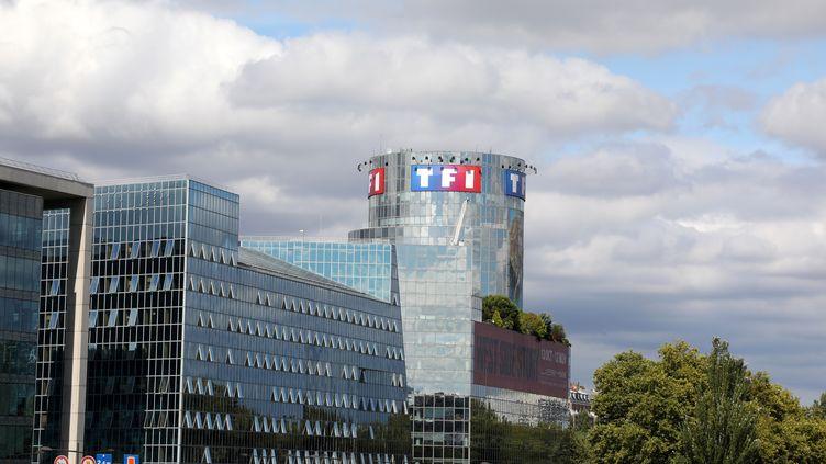 Le siège de TF1 à Boulogne-Billancourt (Hauts-de-Seine), le 4 septembre 2017. (LUDOVIC MARIN / AFP)
