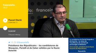 Pascal Cherki était l'invité de L'interview J-1, jeudi sur franceinfo. (FRANCEINFO / RADIOFRANCE)