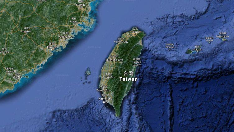 Capture d'écran d'une Google Maps pointant l'île de Taïwan, où un séisme s'est produit le 5 février 2016. (GOOGLE MAPS)