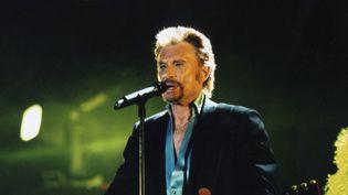Johnny Hallyday, lors d'un concert en 2006. (JEAN-CLAUDE MOIREAU / AFP)